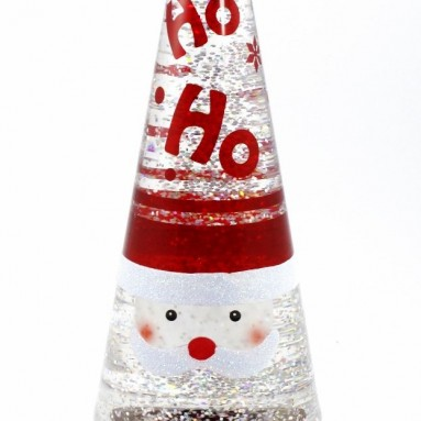 Lighted Glitter Santa Lava Lamp