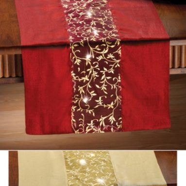 Lighted Holiday Table Runner Indoor Decoration