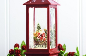 Lighted Snow Globe Lantern