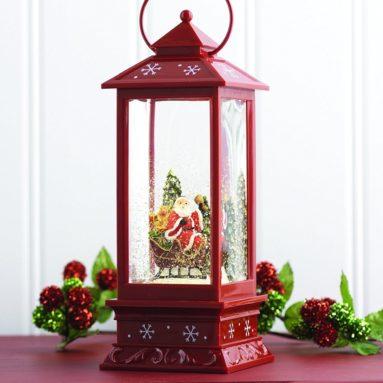 Lighted Snow Globe Lantern