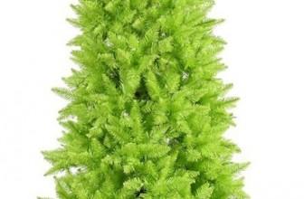 Lime Slim Fir Christmas Tree
