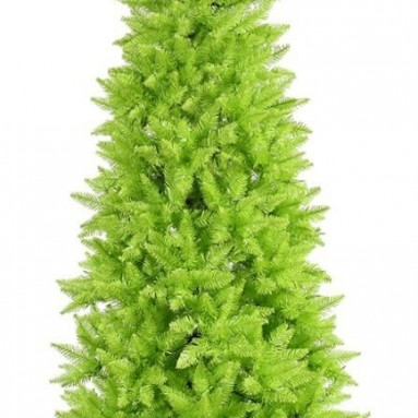 Lime Slim Fir Christmas Tree
