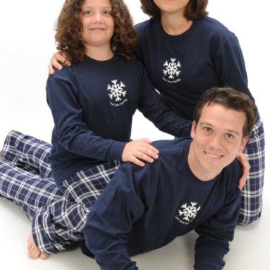 Love Your Family Winter Snowflake Holiday Clothing Set