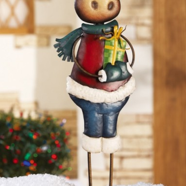 Marvin Moose Holiday Garden Stake Decoration