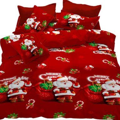 Merry Christmas Santa Claus Duvet Cover Set
