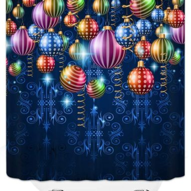 Merry Christmas Shower Curtain Decor