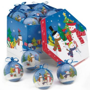 Merry Snowman Family Ornament Box Set