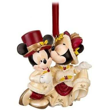 Minnie and Mickey Mouse Sweetheart Christmas Ornament