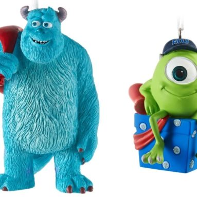 Monsters University Sulley and Mike Christmas Ornaments
