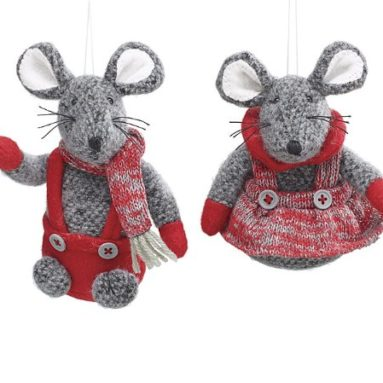Mouse Tree Ornaments Holiday Decorations Gift
