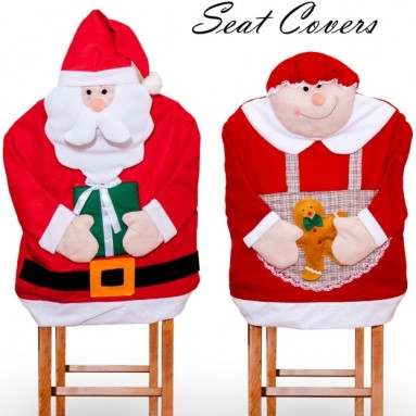 Mr and Mrs Santa Claus Seat Cover