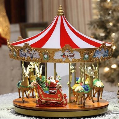 Mr. Christmas 12″ Very Merry Carousel