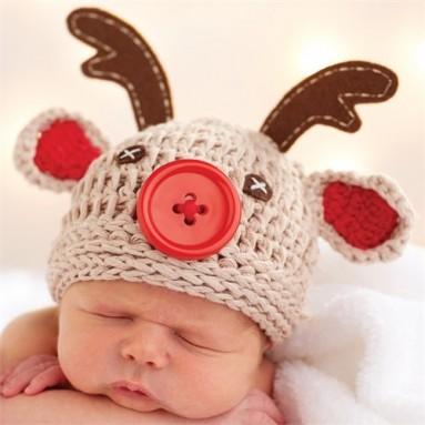 Mud Pie Reindeer Baby Hat