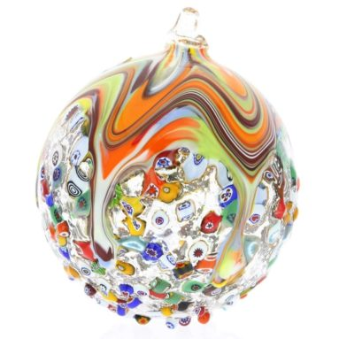 Murano Glass Venetian Mosaic Christmas Ornament