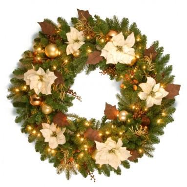 Nature Pre-Lit Christmas Wreath