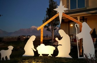 Outdoor Christmas Nativity Silhouette