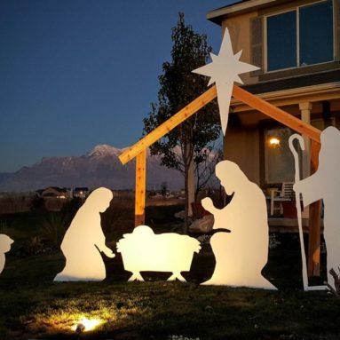 Outdoor Christmas Nativity Silhouette