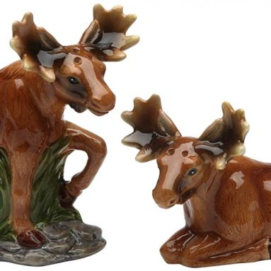 Pair of Moose Salt and Pepper Set