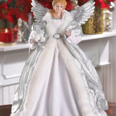 Porcelain Snow Angel Christmas Tree Topper