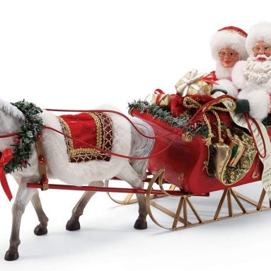 Possible Dreams Santa's One Horse Open Sleigh. Figurine