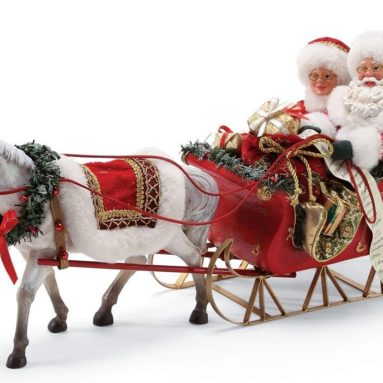 Possible Dreams Santa's One Horse Open Sleigh. Figurine