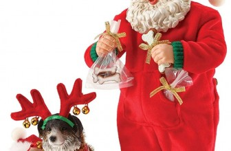 Possible Dreams Santa's Wrapped Up in Holiday Spirit Figurine