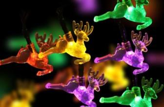 Reindeer Solar Christmas Lights
