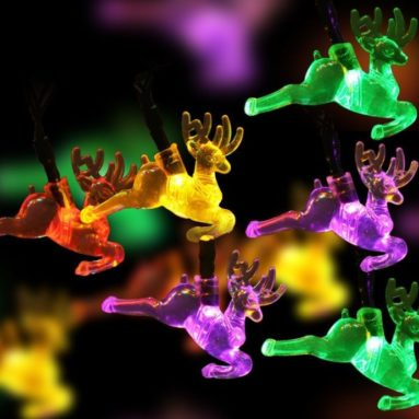 Reindeer Solar Christmas Lights