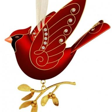 Ruby Red Cardinal Premium Ornament