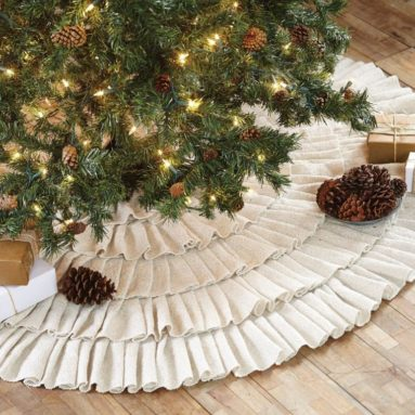 Ruffle Christmas Tree Skirt 50