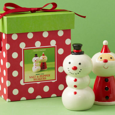 MERRY LITTLE SALT & PEPPER SHAKER SET