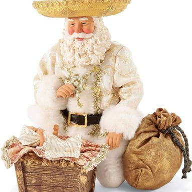"Santa Claus ""Feliz Navidad"" Clothtique Christmas Figurine"
