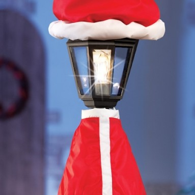 Santa Claus Christmas Lamp Post Outdoor Decoration