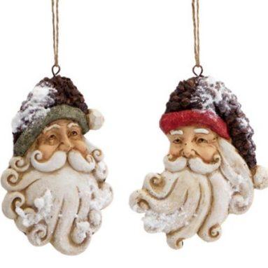 Snow Santa Claus Head Christmas Ornaments