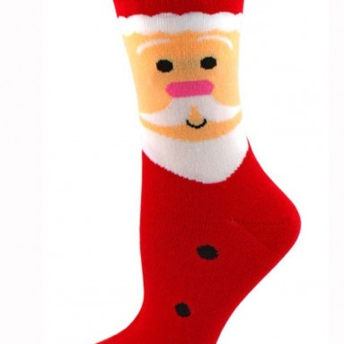 Santa Face Christmas Socks