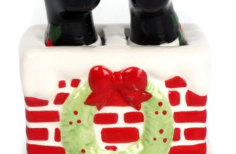 Santa Legs In Chimney Salt & Pepper Shaker Set