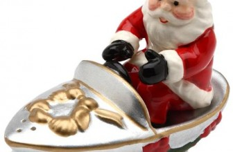 Santa on Boat Salt and Pepper Set