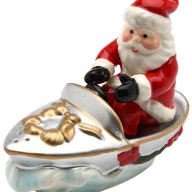 Santa on Boat Salt and Pepper Set