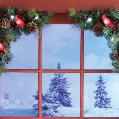 Set of 2 Woodland Cabin Door and Window Corners