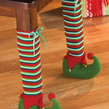 Set of 4 Holiday Elf Chair Leg Covers