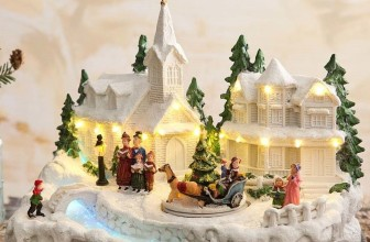 Snowy Village Music Box