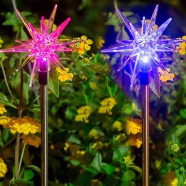 Solar Christmas Decoration Star Stake Light