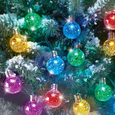 Solar Outdoor Tinsel Ornaments String Lights