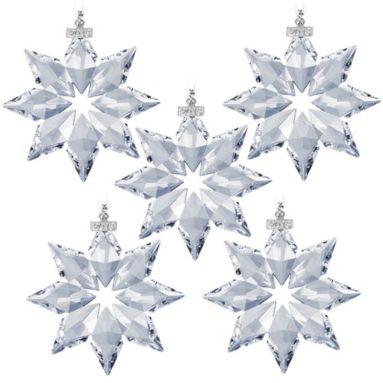 Swarovski 2013 Annual Edition Crystal Star Ornament 5 Pack