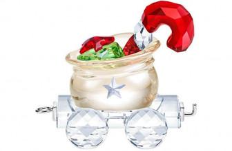 SWAROVSKI Crystal Santa's Gift Bag Wagon Christmas Ornament