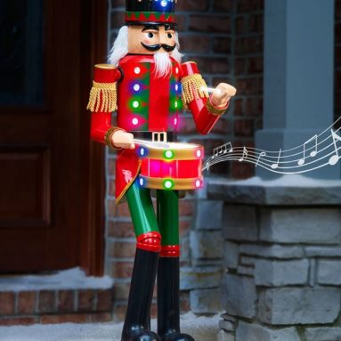 The 4 Foot Lighted Musical Animated Nutcracker