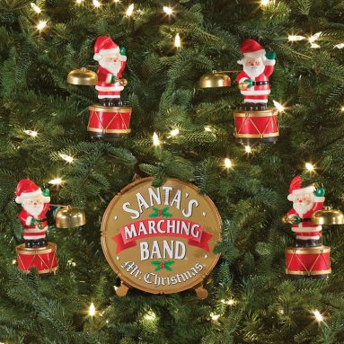 The Coordinated Caroling Santa Band Ornament