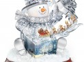 The Gift Of The Holidays Crystal Snowman Sculpture With Lights And Music