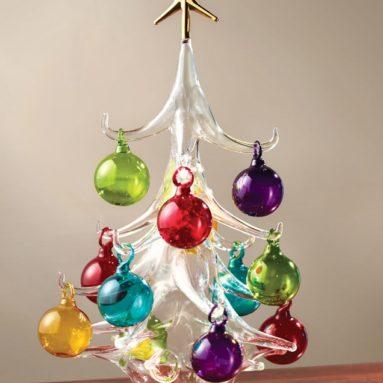 The Italian Hand Blown Glass Christmas Tree