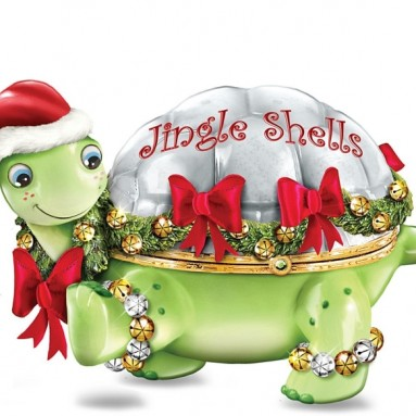 The Jingle Shells Turtle Holiday Music Box